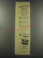 1945 Albers Quick Oats Ad - Controlled-toasting heightens flavor of Alber Oats