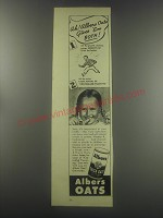1945 Albers Quick Oats Ad - Ah! Albers Oats gives 'em both