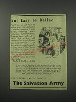 1954 The Salvation Army Ad - Not easy to define