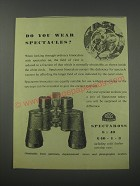 1954 Ross Spectaross 8x40 Binoculars Ad - Do you wear spectacles?
