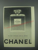 1954 Chanel No. 5 Perfume Ad - The most treasured name in perfume