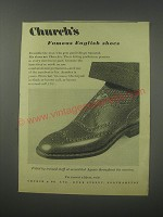 1954 Church's Chetwynd Shoes Ad - Church's famous English Shoes