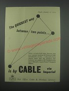 1954 GPO Post Office Cable & Wireless Services Ad - The quickest way
