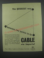 1954 GPO Post Office Cable & Wireless Services Advertisement - quickest way