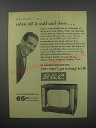 1954 G.E.C. BT1746 14 in. Television Ad - Eamonn Andrews - When all is said