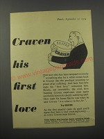 1954 Craven Tobacco Ad - Craven his first love