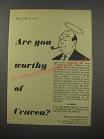 1954 Craven Tobacco Ad - Are you worthy of Craven?