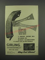 1954 Girling Brakes Ad - Advantages of replacement with Genuine girling
