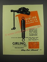 1954 Girling Dampers Ad - The Girling Damper replacement plan