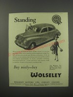 1954 Wolseley Six Eighty Car Ad - Standing