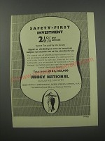 1954 Abbey National Building Society Ad - Safety-first investment