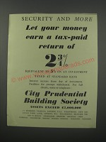 1954 City Prudential Building Society Advertisement