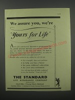 1954 The Standard Life Assurance Company Ad - We assure you, we're yours