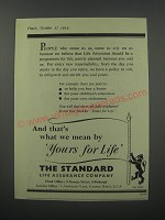 1954 The Standard Life Assurance Company Ad - And that's what we mean