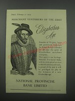 1954 National Provincial Bank Limited Ad - Merchant Venturers