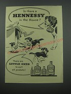 1954 Hennessy Cognac Ad - Is there a Hennessy in the house?