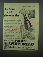 1954 Whitbread Pale Ale Advertisement - You know what you're getting