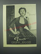 1954 Grant's Morella Cherry Brandy Ad - It's Grant's! Welcome Always - Keep it