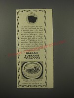 1954 Balkan Sobranie Tobaccos Ad - The fire is aglow, the curtains are closed