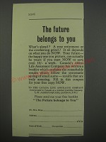 1954 Canada Life Assurance Company Ad - The future belongs to you