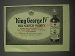 1954 King George IV Old Scotch Whisky Ad - King George IV Old Scotch Whisky