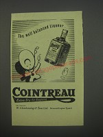 1954 Cointreau Liqueur Ad - The well balanced liqueur