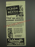 1945 Gebhardt's Eagle Chili Powder Ad - Put the flavor of old Mexico in