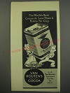1945 Van Houten's Cocoa Ad - The world's best cocoa at less than a penny per cup