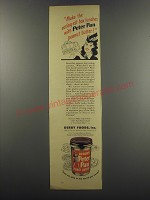 1944 Derby's Peter Pan Peanut Butter Ad - Make the eating-est box lunches