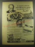 1944 Armour Mor Meat Ad - recipe for MOR Victory Pie