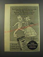 1944 Van Houten's Cocoa Ad - You'll find the country's smartest cooks all keep