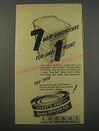 1944 Cudahy's Puritan Deviled Ham Ad - 7 meat sandwiches for only 1 point