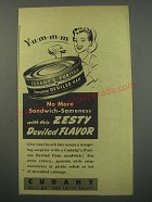 1944 Cudahy's Puritan Deviled Ham Ad - No more sandwich-sameness with this