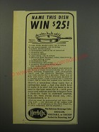 1943 Herb-Ox Bouillon cubes Advertisement - Name this dish win $25