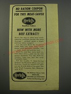 1943 Herb-Ox Bouillon cubes Ad - No ration coupon for this meat-saver