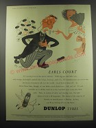 1955 Dunlop Tyres Ad - Earls Court