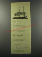 1955 Powers-Samas punched-card equipment Ad - Speed is the essence