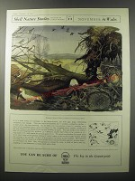 1955 Shell Oil Ad - Shell Nature Studies James Fisher No. 11 November in Wales