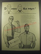 1955 Simpson Men's Shirts Ad - To wear two ways