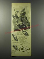 1955 Clarks Sandals Ad - Sunstrap, Jersey and Chuppiee