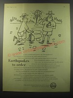 1955 ICI Imperial Chemical Industries Ad - Earthquakes to order