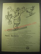 1955 ICI Imperial Chemical Industries Ad - Snow business