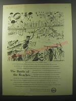 1955 ICI imperial Chemical Industries Ad - The Battle of the Beaches