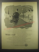 1955 ICI Imperial Chemical Industries Ad - White trail