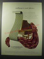 1955 Sanderson Wallpapers and Fabrics Advertisement - wallpapers and fabrics