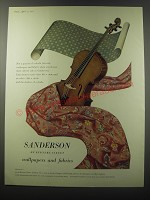1955 Sanderson Wallpapers and Fabrics Ad - Sanderson of Berners Street
