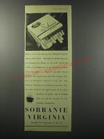 1955 Sobranie Virginia Cigarettes Ad - Relax, and as you light up your Sobranie