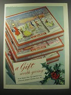 1955 du Maurier Cigarettes Ad - A gift worth giving