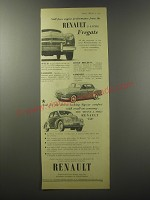 1955 Renault Fregate and 750 Ad - Still finer engine performance