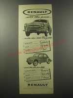 1956 Renault Fregate and 750 Ad - Renault sets the pace